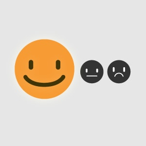Smiling Emoji - Happy customers after contacting them with the follow up booster